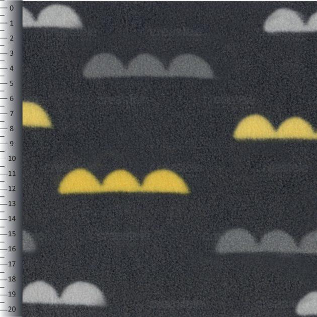 SHELYS FLEECE 240 PRINT DESIGN CLOUDS 492 ASPHALT