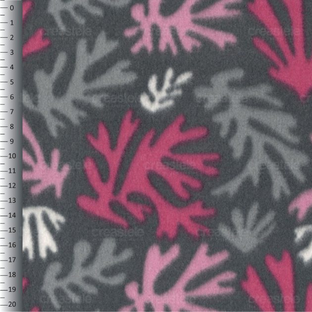 SHELYS FLEECE 240 PRINT DESIGN FLORAL 479 ASPHALT