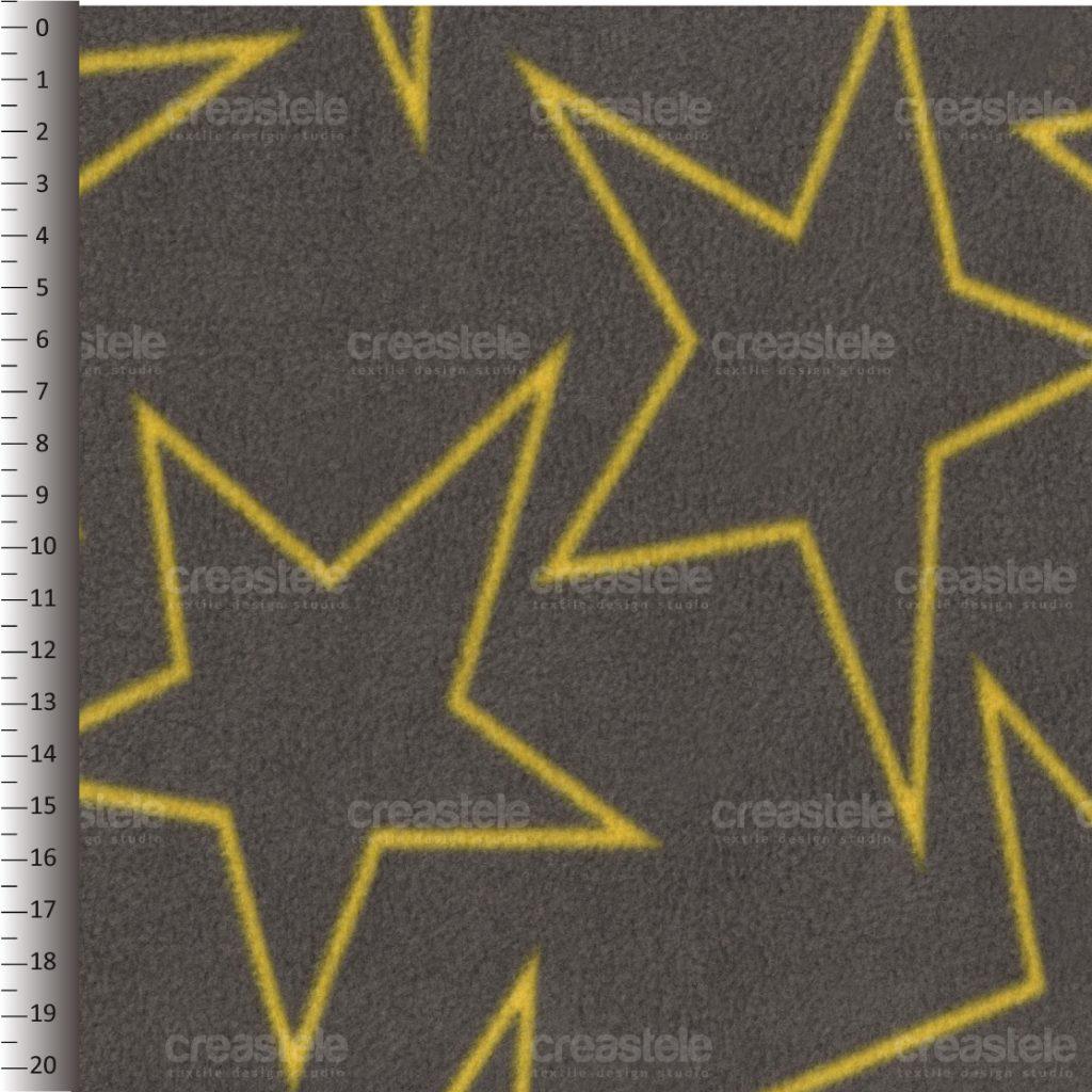 SHELYS FLEECE 240 PRINT STARS 491 VOLCANIC GLASS