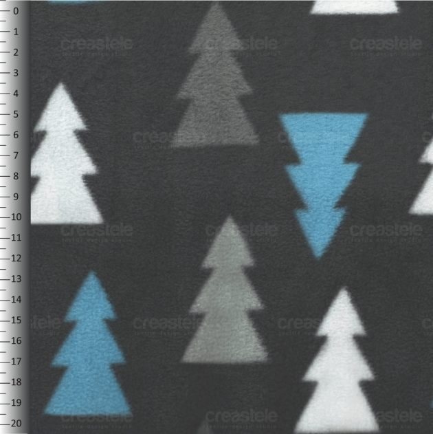 SHELYS FLEECE 240 PRINT TREES 467 CASTLEROCK