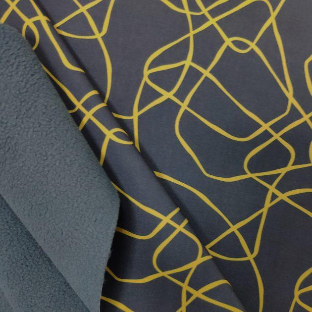 Ткань SOFTSELL ULTRA DIGITAL PRINT GEOMETRIC 547 ASPHALT