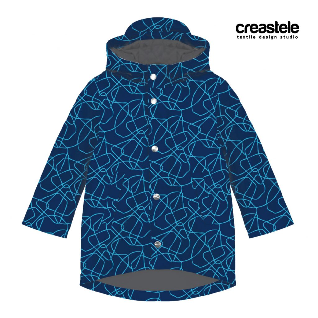 Ткань SOFTSELL ULTRA DIGITAL PRINT GEOMETRIC 547 ESTATE BLUE