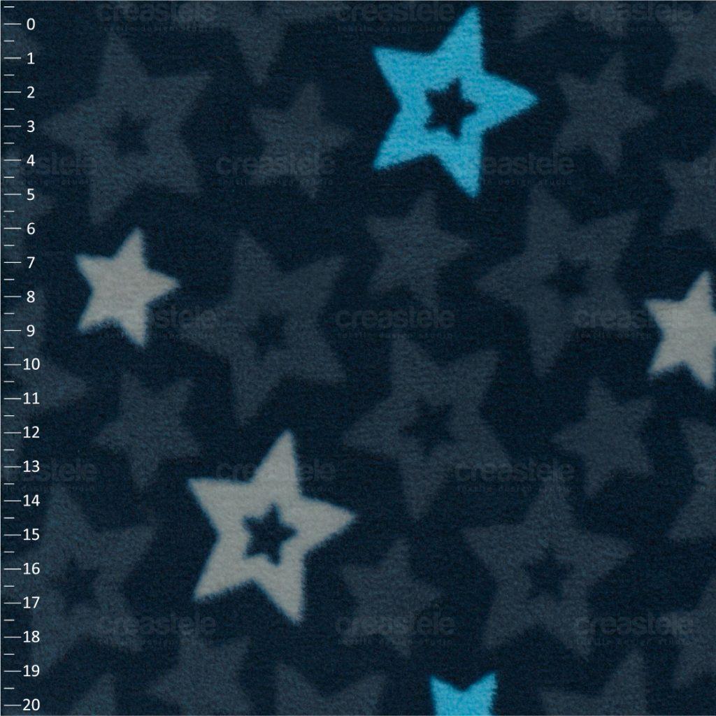 SHELYS FLEECE 240 PRINT STARS 469 MAJOLICA BLUE