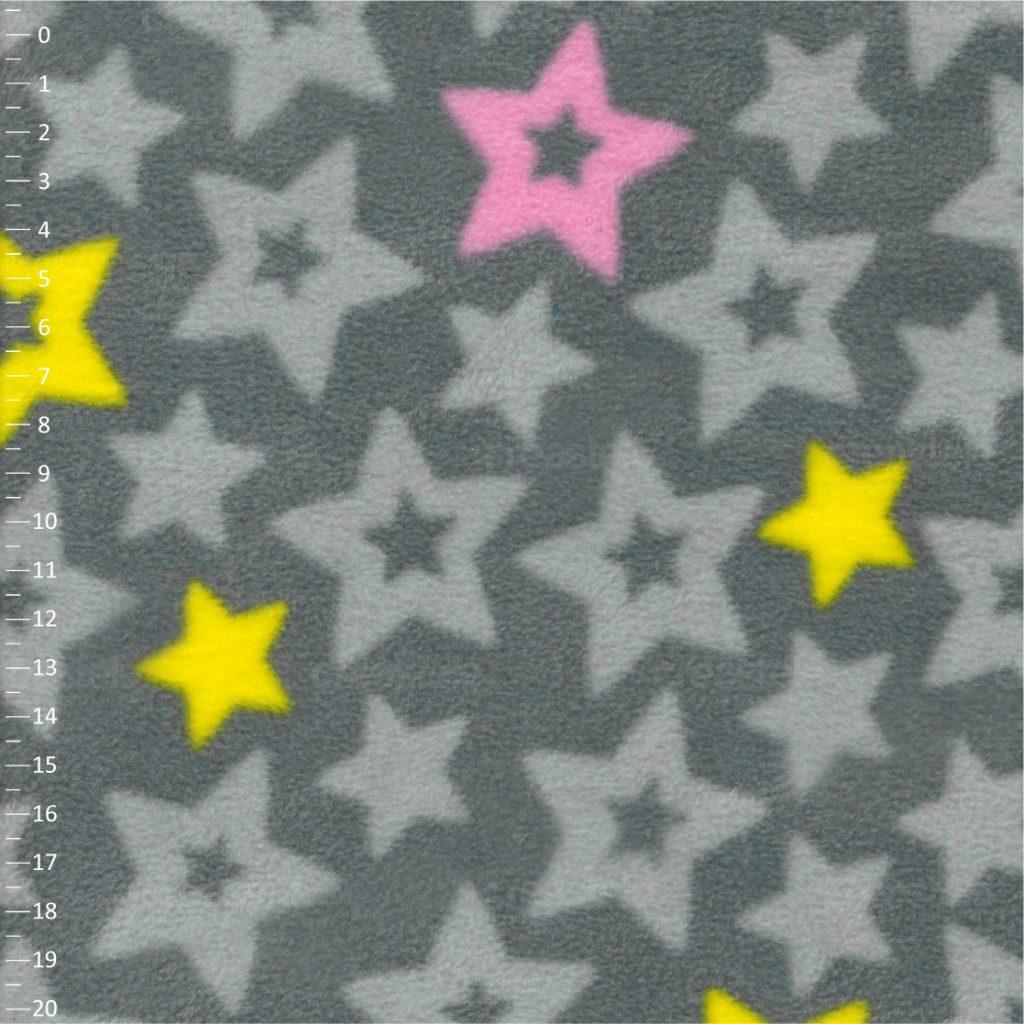 SHELYS FLEECE 240 PRINT STARS 469 SHARKSKIN