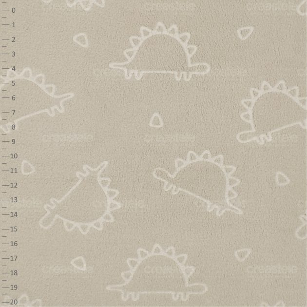 SHELYS FLEECE 240 EMBO PRINT DINO 532 CREAM BRULEE