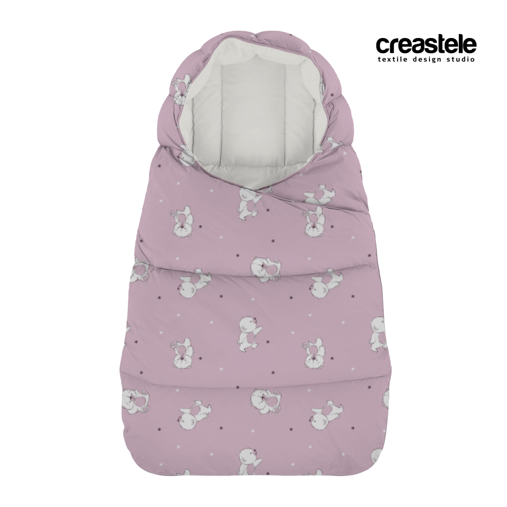 Розовая курточная ткань Дюспо DEWSPO PU MILKY PRINT BEARS 582 FAIRY TALE оптом LERTEX
