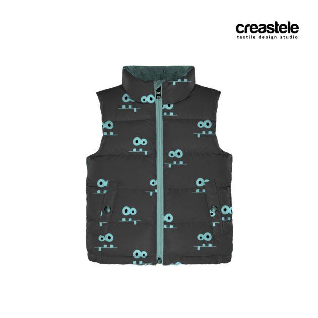 Курточная ткань дюспо с принтом MONSTERS 585 ASPHALT 1