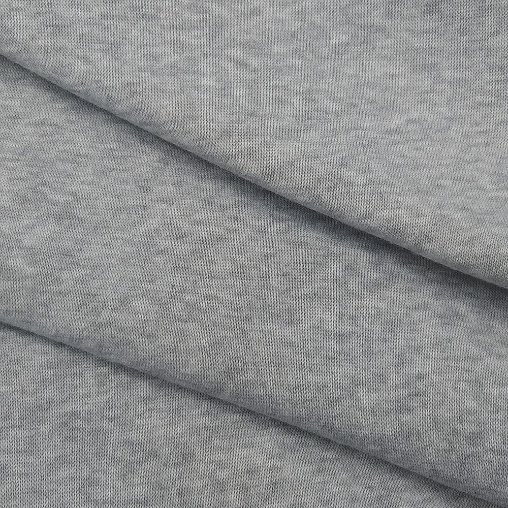 Трикотаж на основе флиса SHELYS FLEECE 220 LASER PRINT PD GREY MELANGE