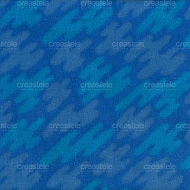 Флис принтованный SHELYS FLEECE 240 PRINT ABSTRACT 310 STRONG BLUE