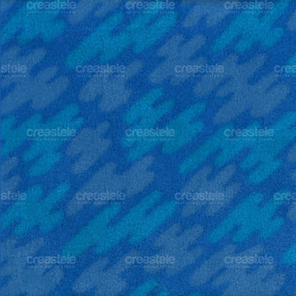 Флис принтованный SHELYS FLEECE 240 PRINT ABSTRACT 310 STRONG BLUE