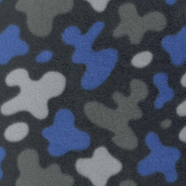 Флис принтованный SHELYS FLEECE 240 PRINT ABSTRACT 453 AZURE BLUE