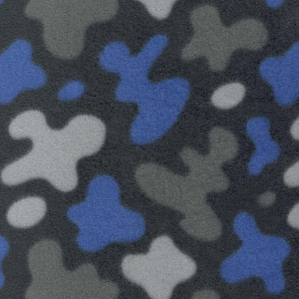 Флис принтованный SHELYS FLEECE 240 PRINT ABSTRACT 453 AZURE BLUE